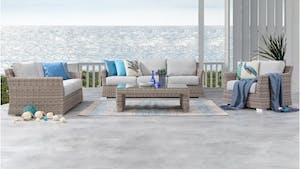 Savannah Outdoor Wicker Sofa Suite 3 + 2 + 1