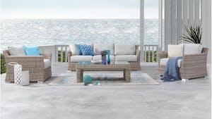 Savannah Outdoor Wicker Sofa Suite 3 + 1 + 1