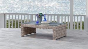 Savannah Outdoor Wicker Rectangular Coffee Table