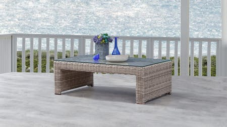 Savannah Outdoor Wicker Rectangular Coffee Table