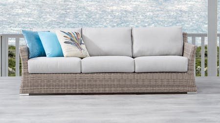 Savannah Outdoor  Wicker Three Seater Sofa