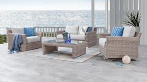 Savannah Outdoor Wicker Sofa Suite 2 + 1 + Rocker