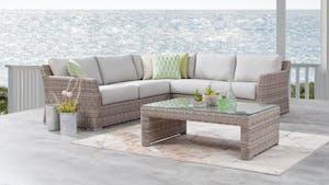Savannah Outdoor Wicker Corner Lounge