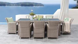 Savannah 9-Piece Outdoor Wicker Dining Set