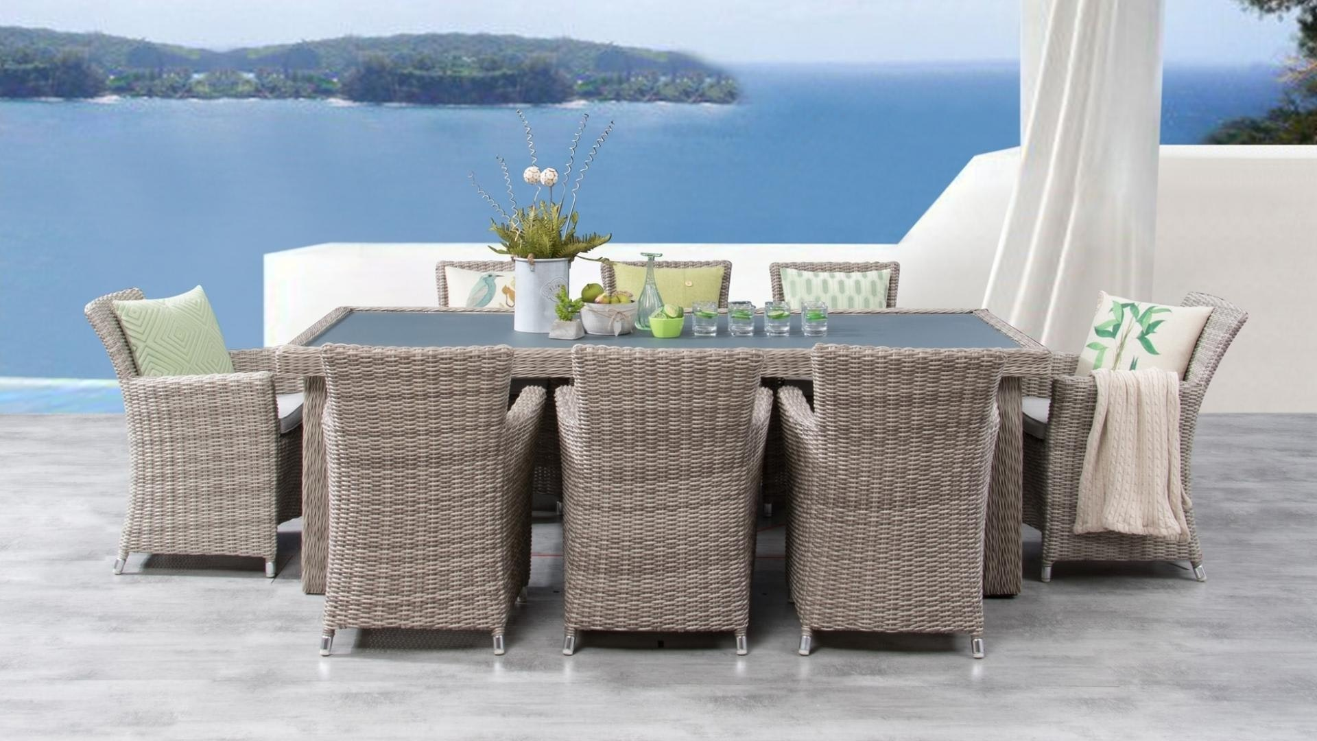 Savannah 9 Piece Outdoor Wicker Dining Set