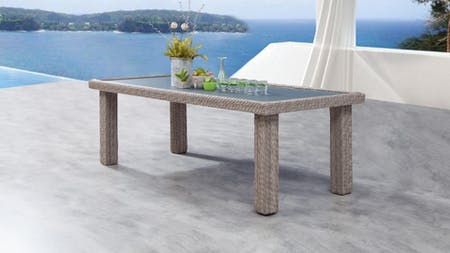 Savannah Outdoor Wicker Dining Table