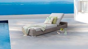 Savannah Outdoor Wicker Sun Lounge