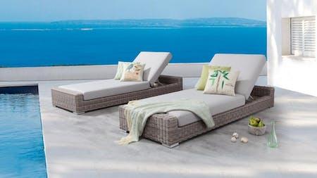 Savannah Outdoor Sunbed Twin Set