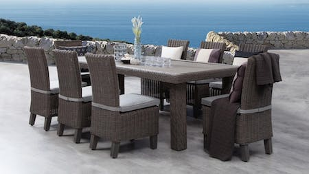 Canyon 9 Piece Outdoor Wicker Dining Set