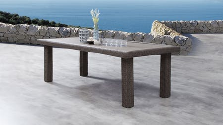 Canyon Outdoor Wicker Dining Table