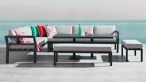 Bondi Black Outdoor Aluminium Lounge & Dining Combo