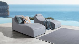 Breeze Outdoor Fabric Sun Lounge - Set of Two