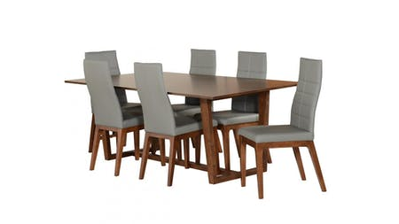 TAHITI Dining Set 7-piece