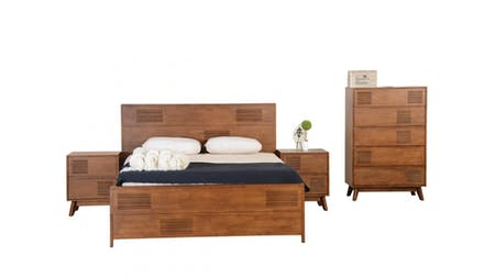 NEW DELHI King Bedroom Suite 4-Piece With Tallboy