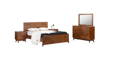 NEW DELHI King Bedroom Suite 4-Piece With Dresser