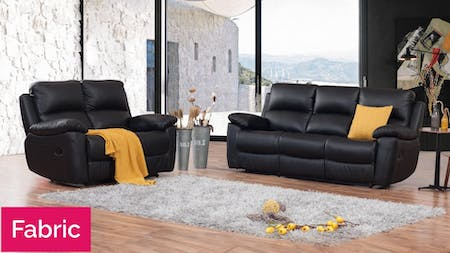 Lincoln Fabric Recliner Sofa Suite 3 + 2