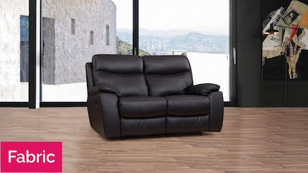 Lincoln Fabric Recliner Two Seater Sofa