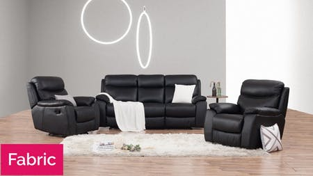 Balmoral Fabric Recliner Sofa Suite 3 + 1 + 1