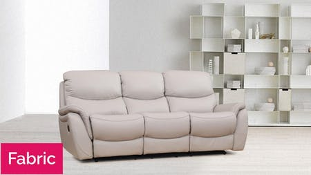 Richmond Fabric Recliner Three Seater Sofa