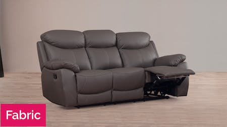 Brighton Fabric Recliner Three Seater Sofa