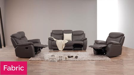 Brighton Fabric Recliner Sofa Suite 3 + 2 + 1
