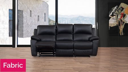 Lincoln Fabric Recliner Three Seater Sofa
