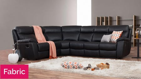 Balmoral Fabric Recliner Corner Lounge Option B