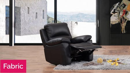 Lincoln Fabric Recliner Armchair