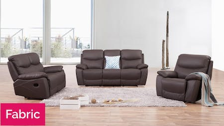 Chelsea Fabric Recliner Sofa Suite 3 + 2 + 1