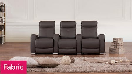 Regent Fabric 3 Seater Home Theatre Recliner Lounge