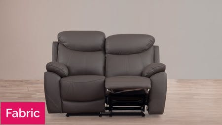 Brighton Fabric Recliner Two Seater Sofa