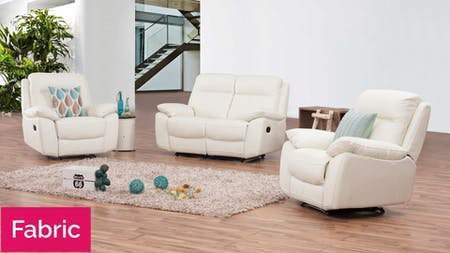 Berkeley Fabric Recliner Sofa Suite 2 + 1 + 1