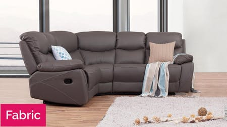 Chelsea Fabric Recliner Corner Lounge Option A