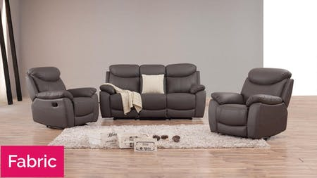Brighton Fabric Recliner Sofa Suite 3 + 1 + 1