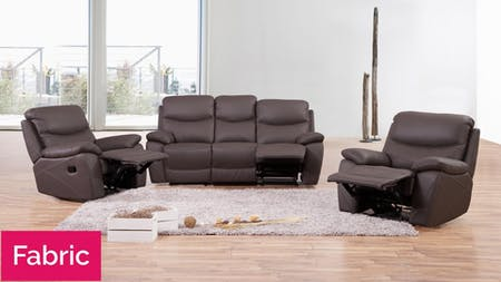 Chelsea Fabric Recliner Sofa Suite 3 + 1 + 1