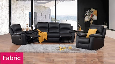 Lincoln Fabric Recliner Sofa Suite 3 + 1 + 1