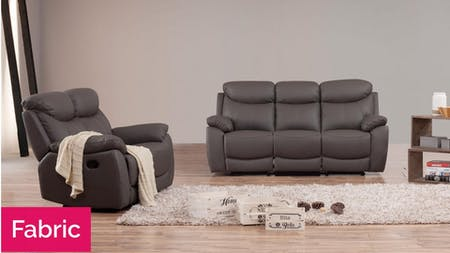 Brighton Fabric Recliner Sofa Suite 3 + 2