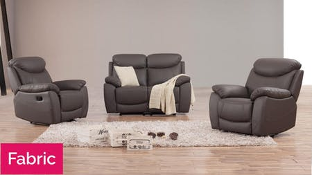 Brighton Fabric Recliner Sofa Suite 2 + 1 + 1