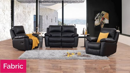 Lincoln Fabric Recliner Sofa Suite 2 + 1 + 1