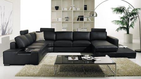 Hollywood Leather Modular Lounge Option A