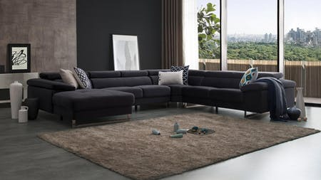 Boston Fabric Modular Lounge Option A