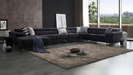 Boston Fabric Modular Lounge Option B