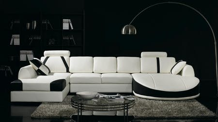Messina Leather Chaise Lounge Option A