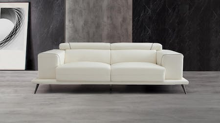 Laurence Leather Three Seat Sofa