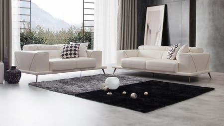 Laurence Leather Sofa Suite 3 + 2