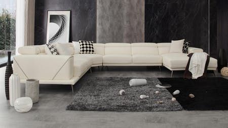 Laurence Leather Modular Lounge Option A