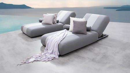 Joy Outdoor Fabric Sun Lounge Set