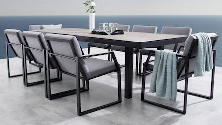 Invini 9-Piece Outdoor Ceramic Dining Set