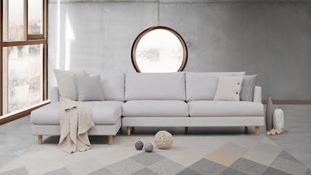 Stellar Fabric Chaise Lounge Option B