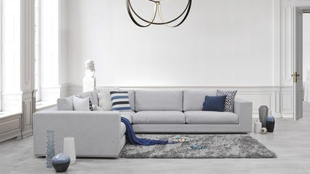 Albert Fabric Corner Lounge Option D